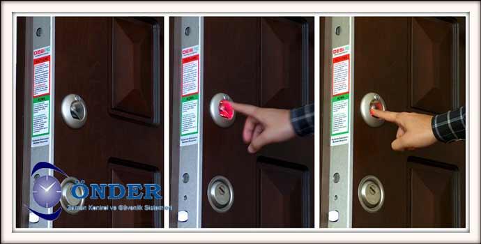 Parmak İzli Kapı Kilit Sistemi